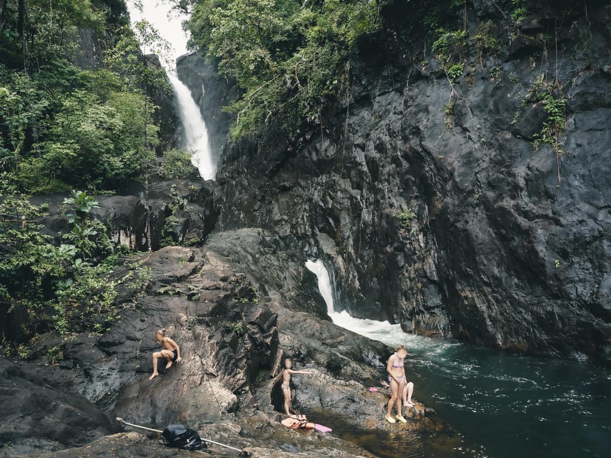 klong plu waterfall on the island koh chang