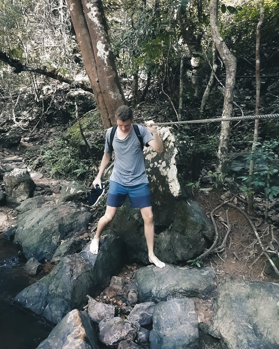 hiking to than mayom waterfall in koh chang