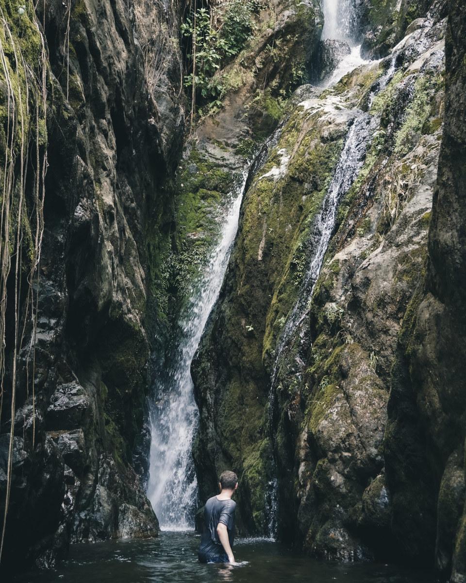 swimming at klong neung waterfall in Koh chang