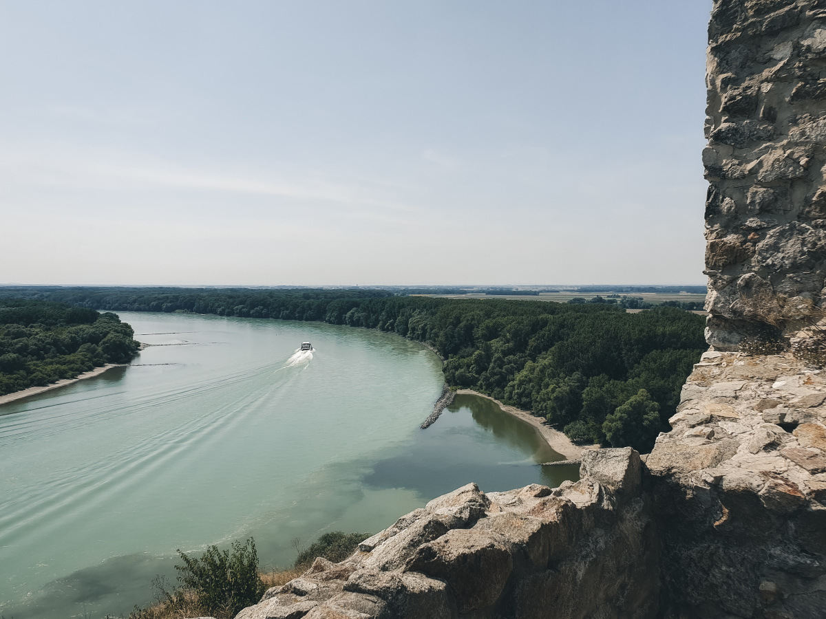View of the Danube River from Devin Castle