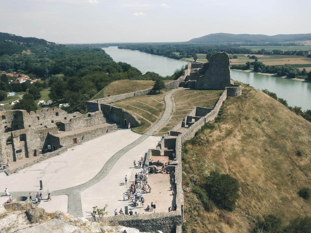 Devin Castle from above