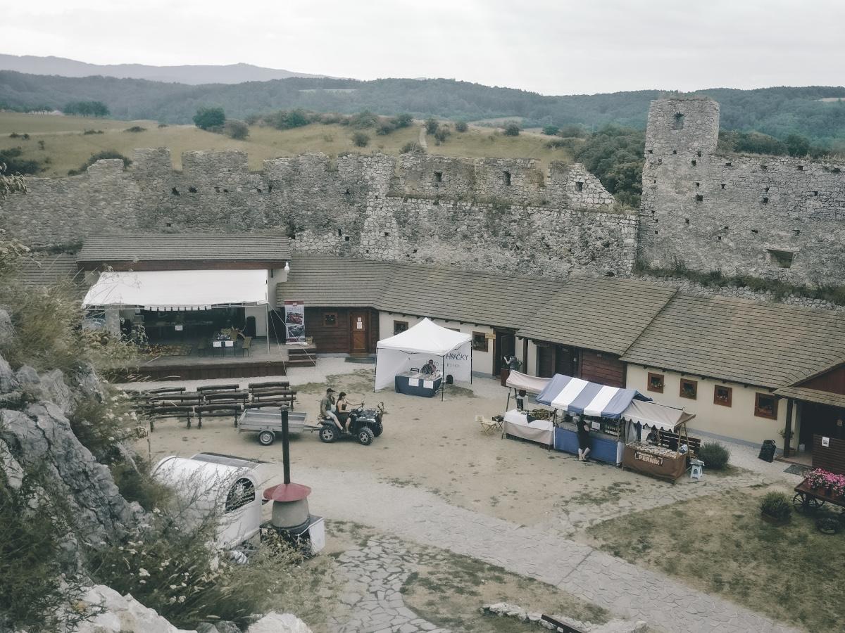 Inner court of Beckov Castle