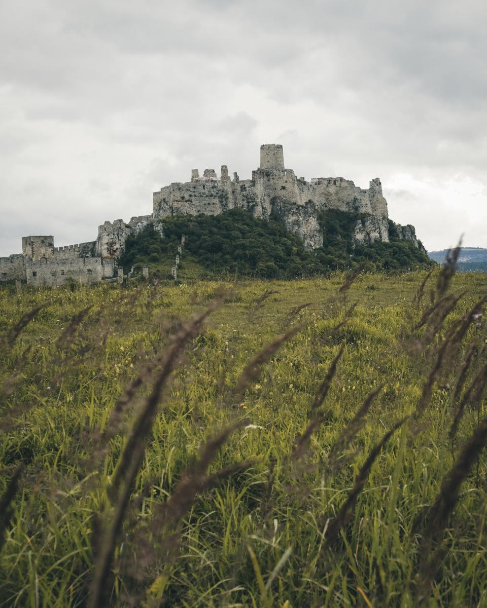 Pretty view of Spis Castle