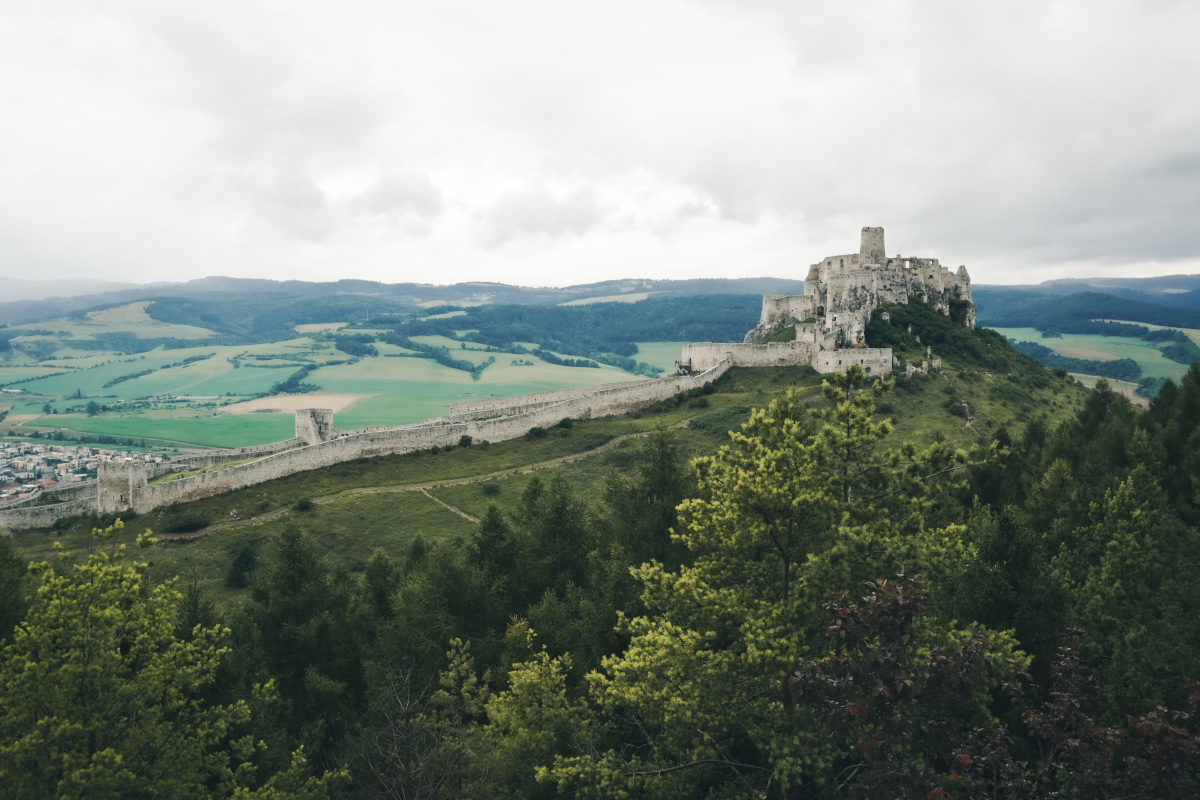 Panorama view of Spis Castle
