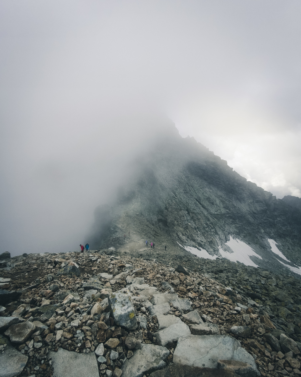 Hike through the clouds