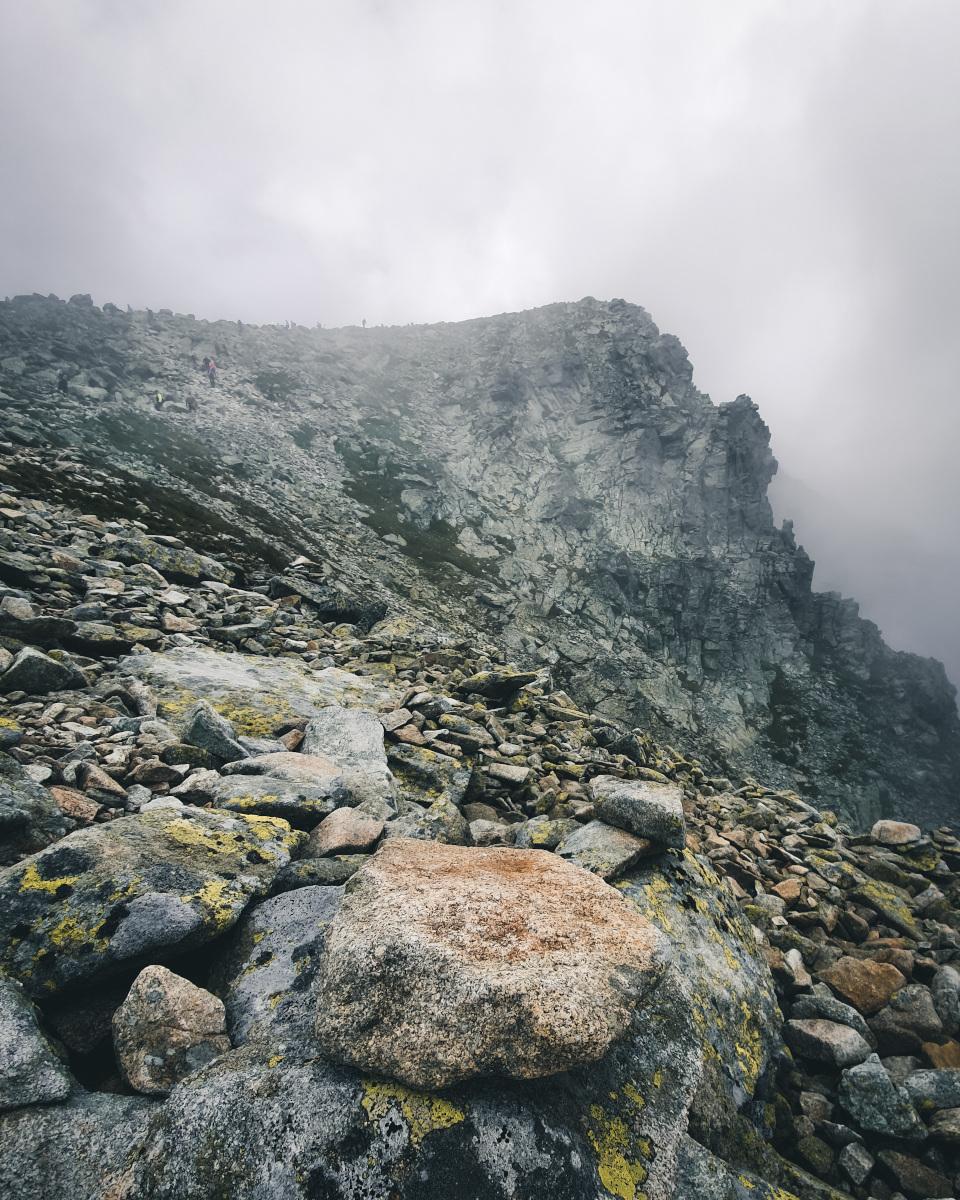 Fog at the summit of Rysy