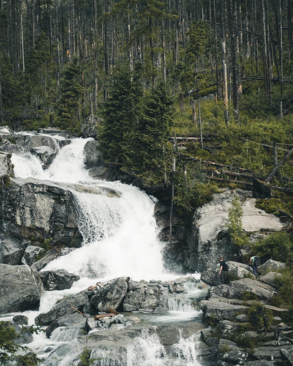 Big waterfall in the High Tatras