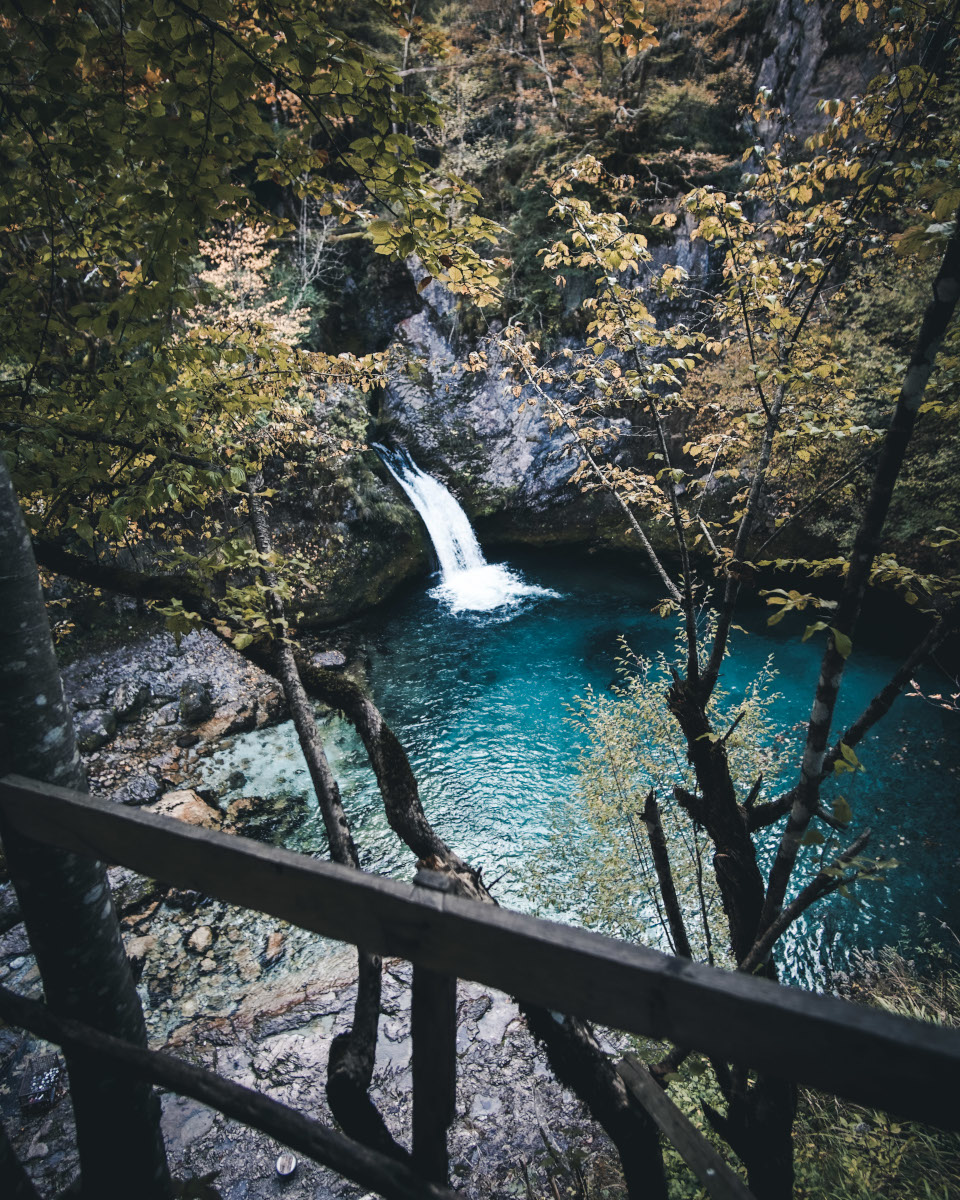 Blue Eye waterfall in Albania