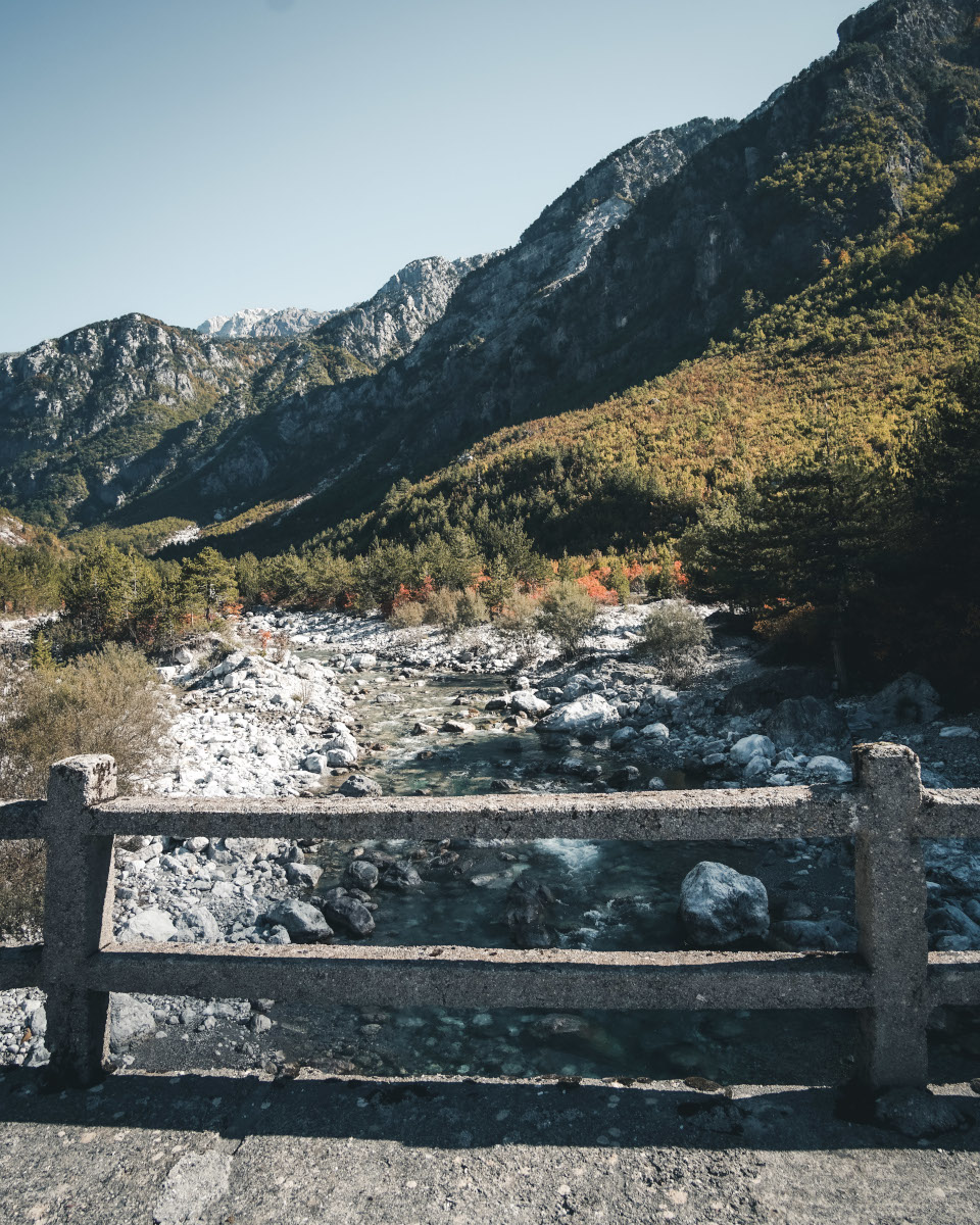 Stone bridge in Theth National Park
