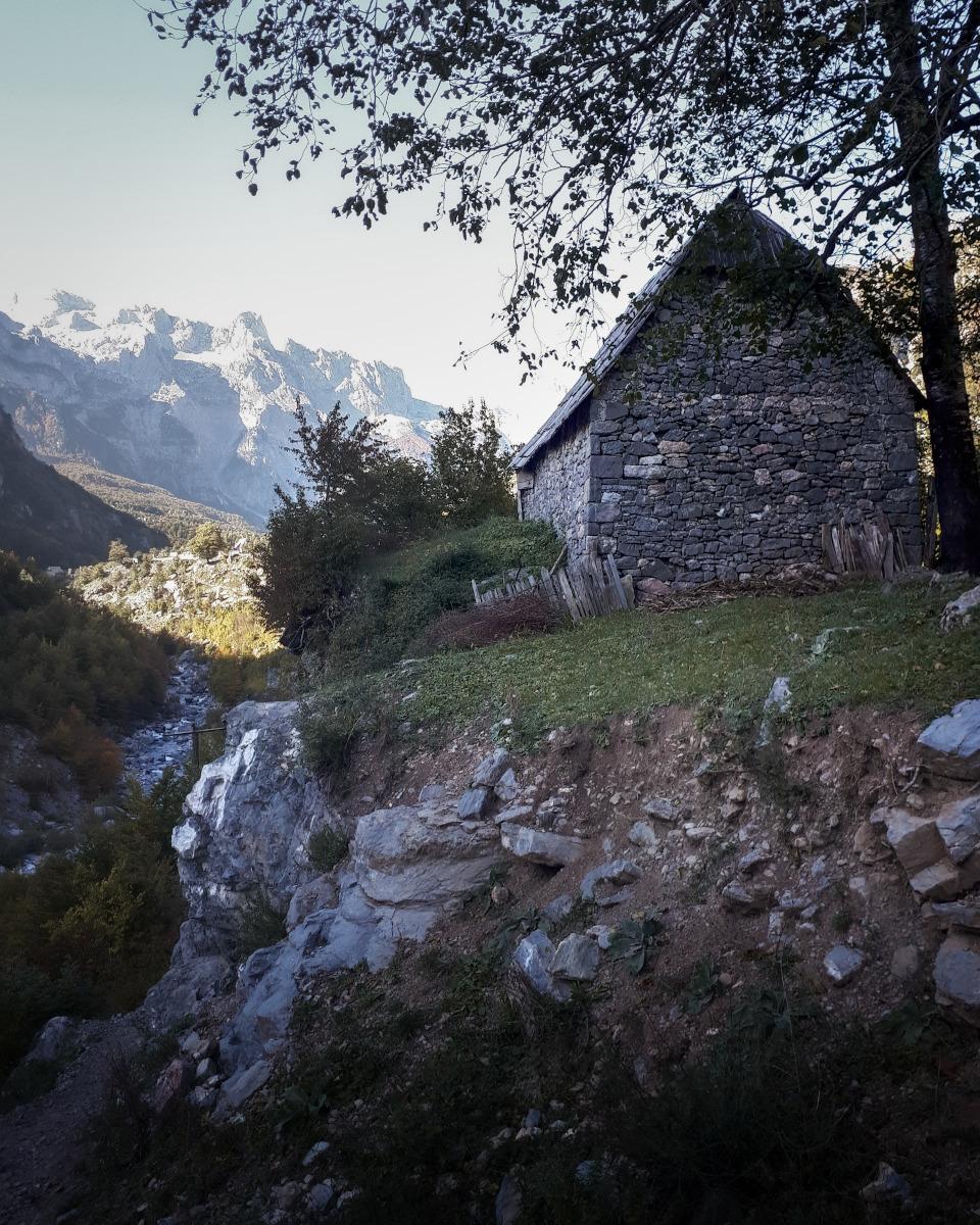 Farmhouse in the Albanian mountains
