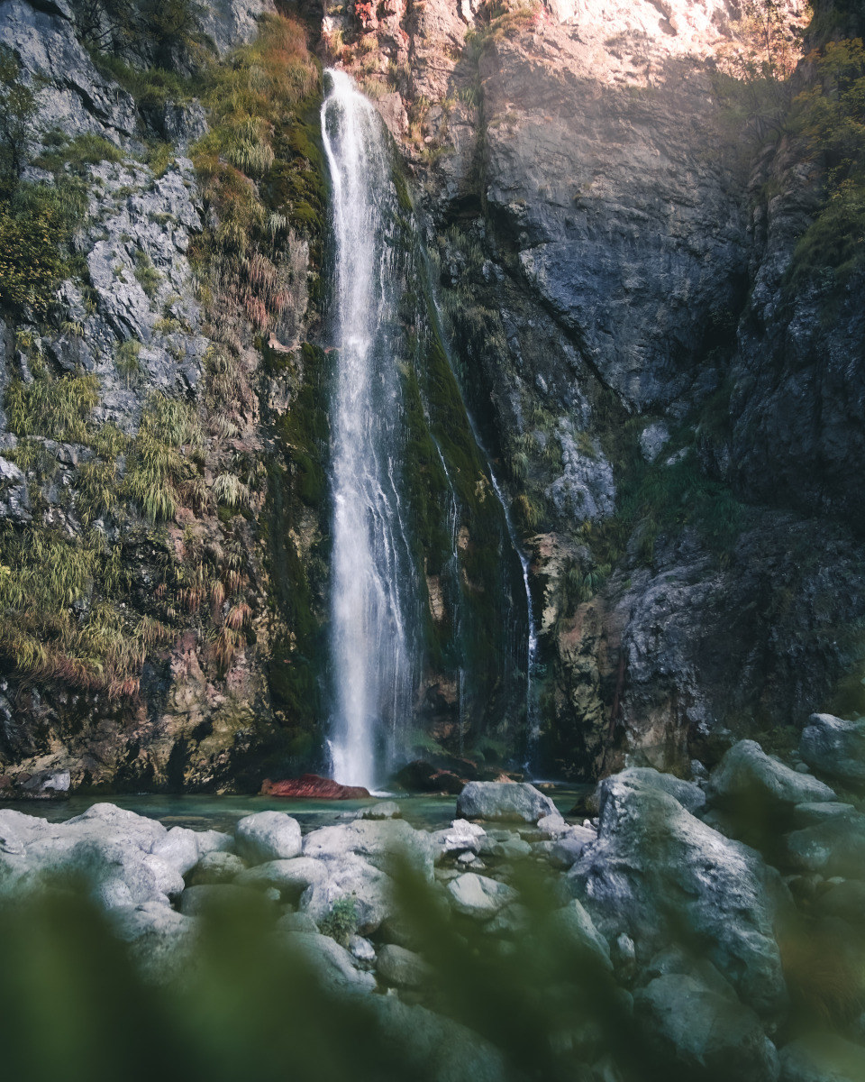 Huge waterfall in Theth