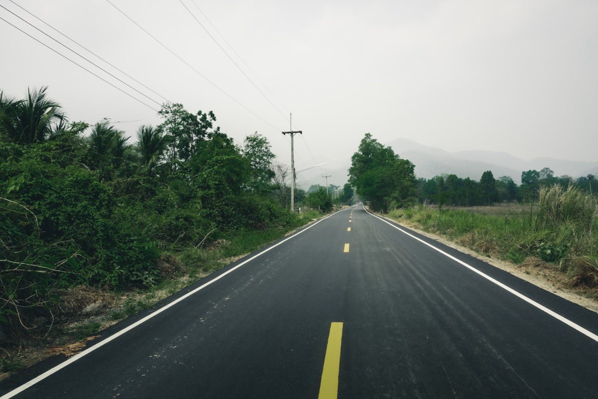 Road conditions in Sukhothai