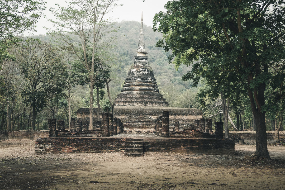 Wat Chedi Ngam outside of Sukhothai