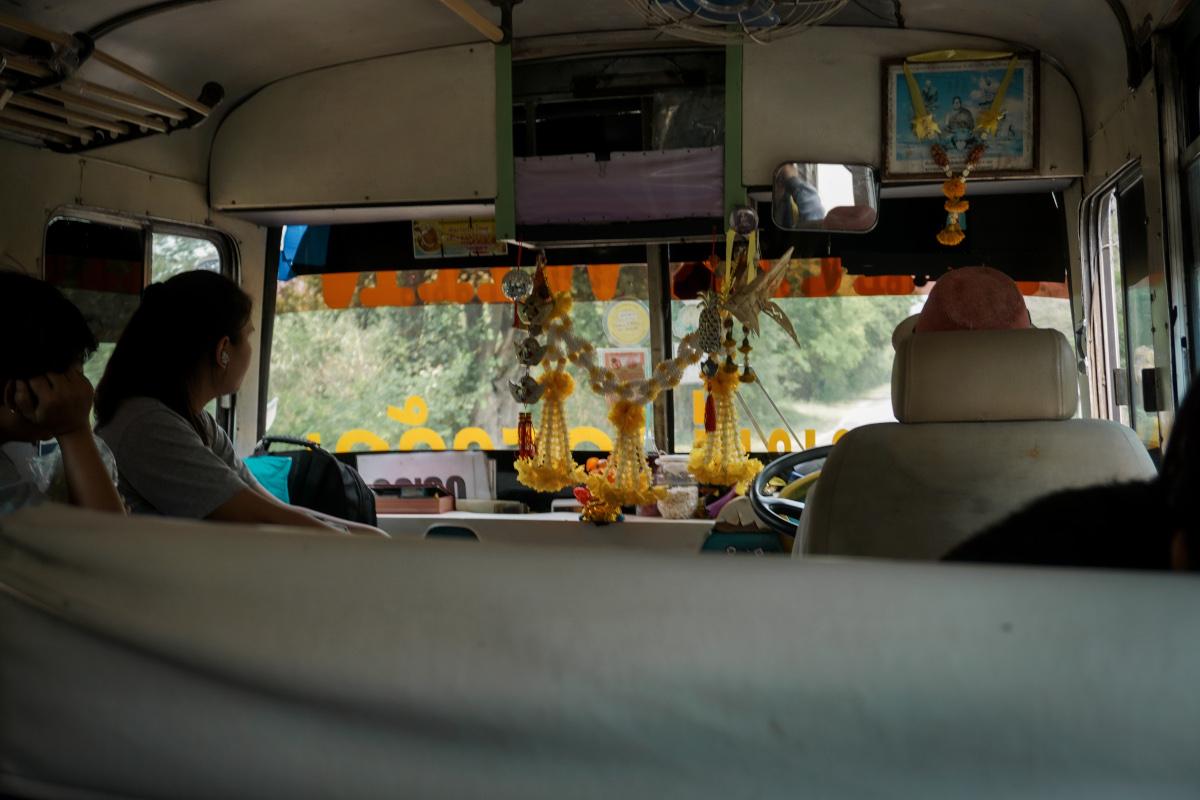 The bus to Erawan