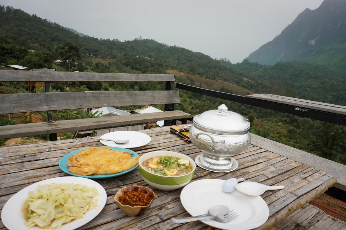 Thai food in nature