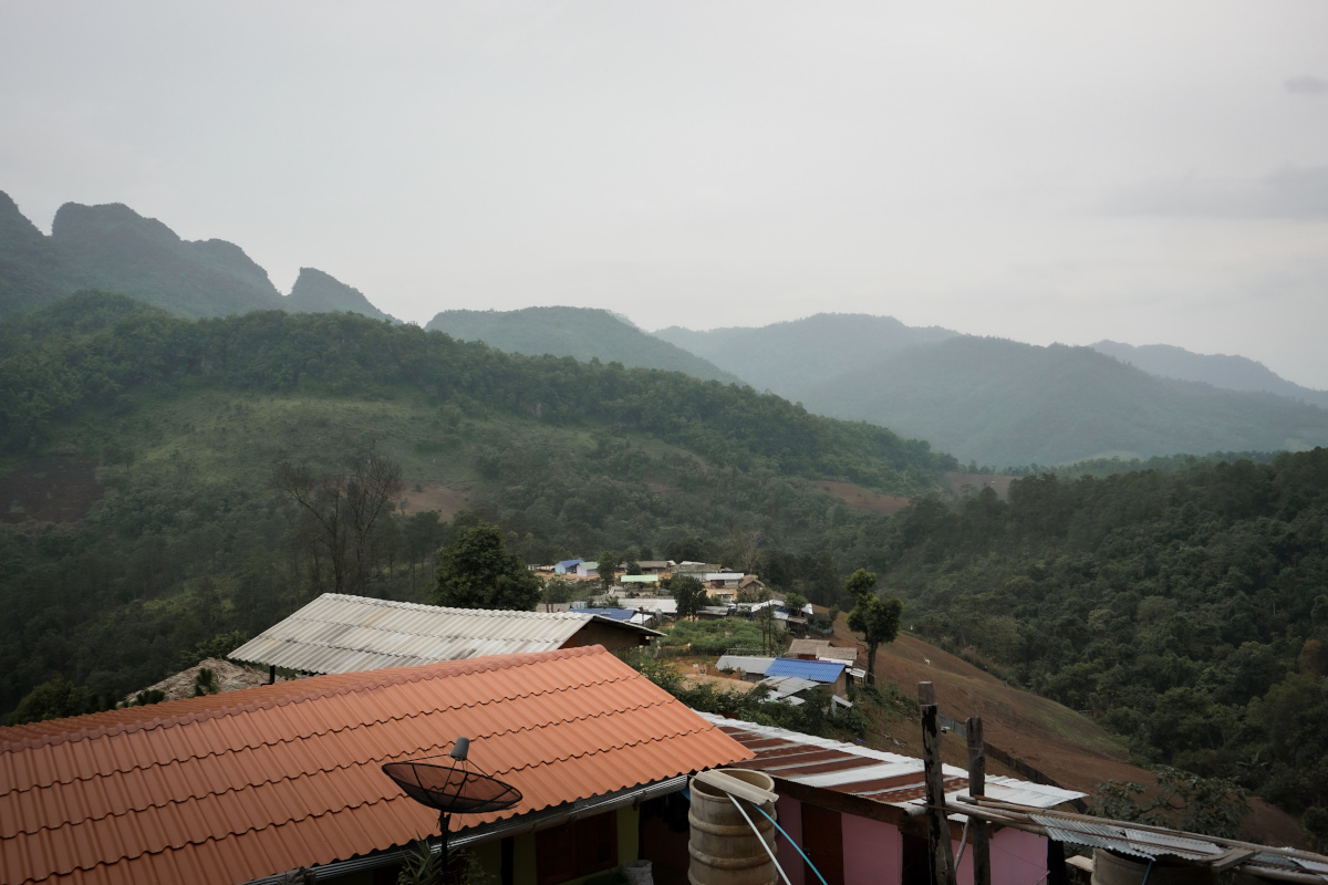 View over the roofs of a mountain village