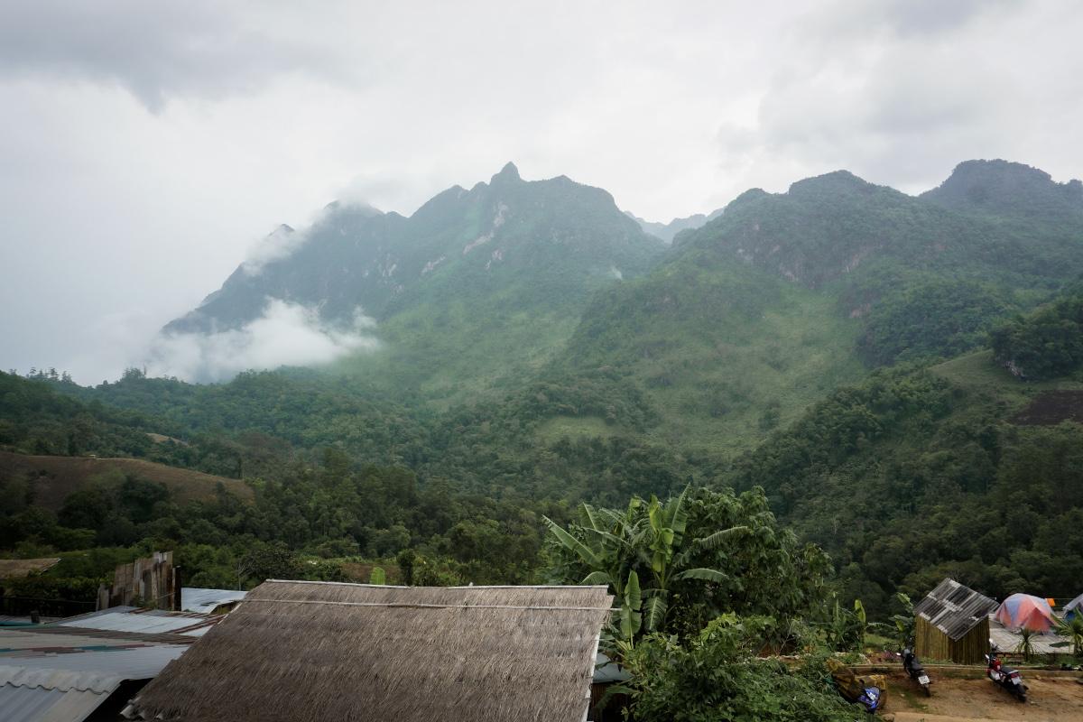 Lisu village in Thailand
