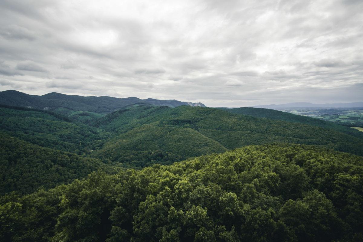 View of the Bükk National Park