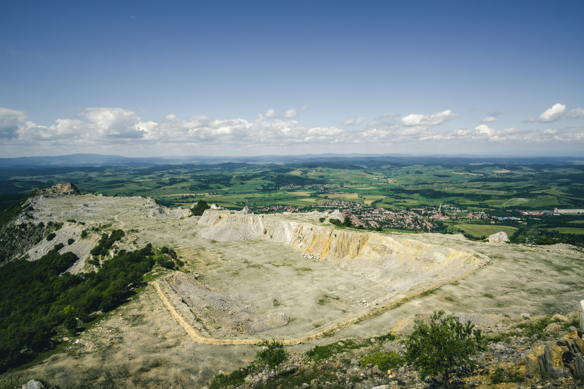 View of the old quarry from the top