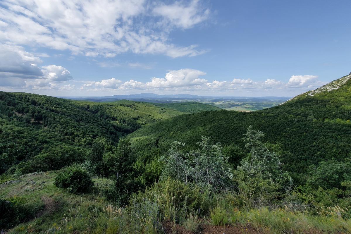View of the vastness of the Bükk National Park