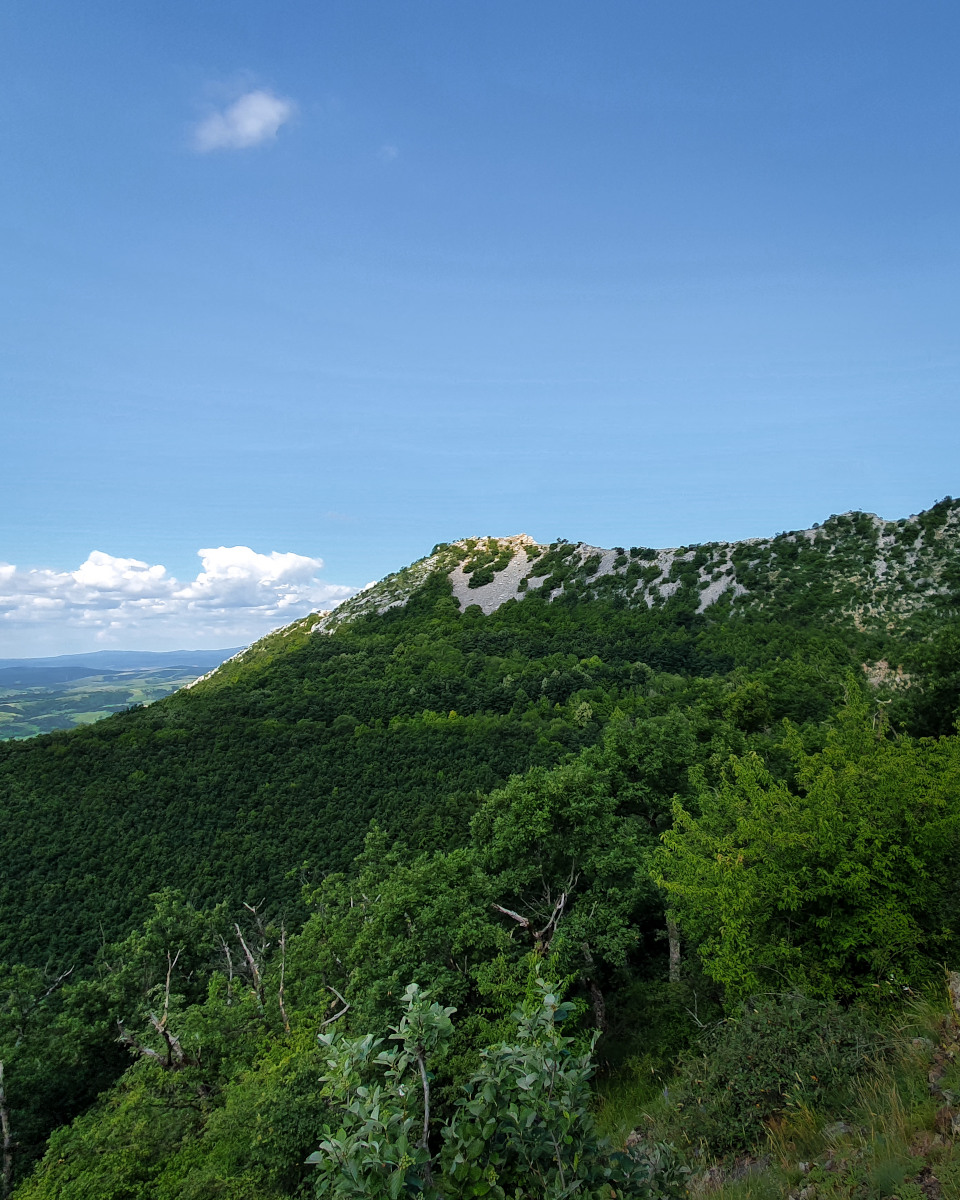 View of a rock face on the Bél-kő