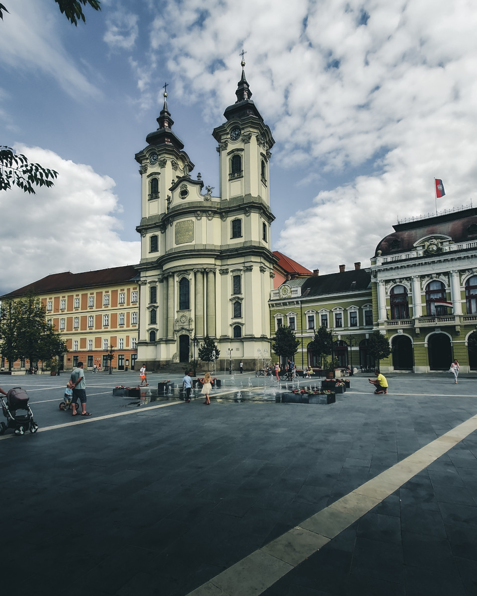 The market square of Eger