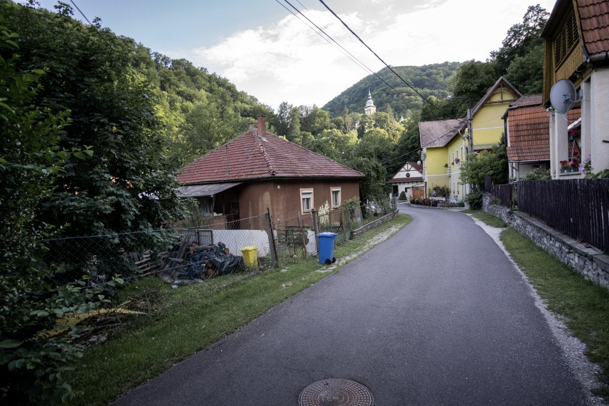 Road through the village of Lillafüred